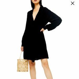The Perfect Office Dress! Tie Neck Mini Dress